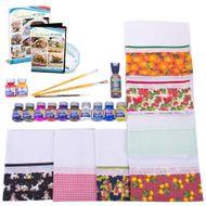 kit de artesanato com pintura em tecido