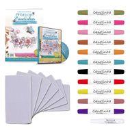kit de artesanato de pintura com canetinhas
