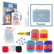 kit croche para touca de bebe