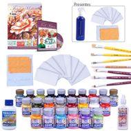 kit de artesanato com Pintura em Tecido Molhado