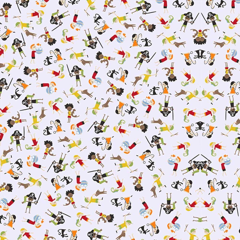 Armario De Parede Pequeno ~ Tecido Infantil Crianças Fundo Branco 50x150cm Vitrine do Artesanato VitrineDoArtesanato