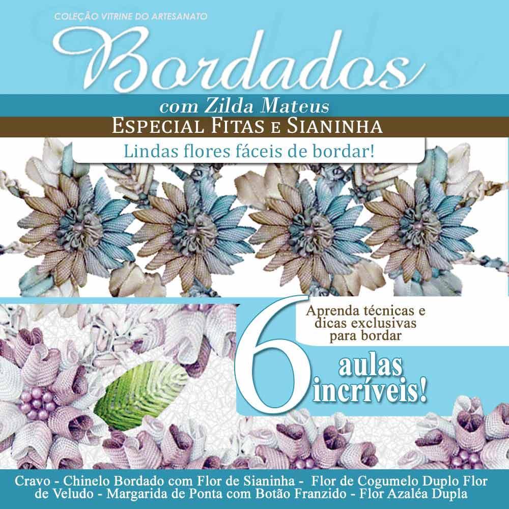 Vitrine Do Artesanato Zilda Mateus ~ Curso Online Bordados Fitas e Sianinha com Zilda Mateus Vitrine do Artesanato