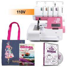 Kit-Maquina-de-Overloque-Ss320-Serie-Pink---Livro-Burda-e-Sacola_17937_1