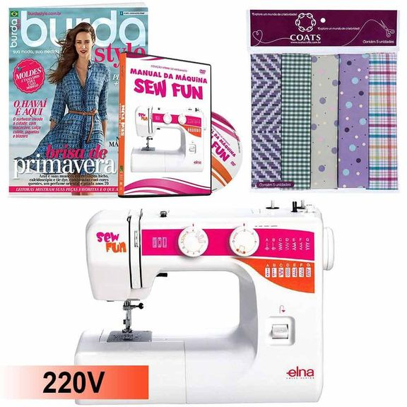 Kit-Maquina-de-Costura-1000-Sew-Fun-Elna---Manual-em-DVD_17439_1