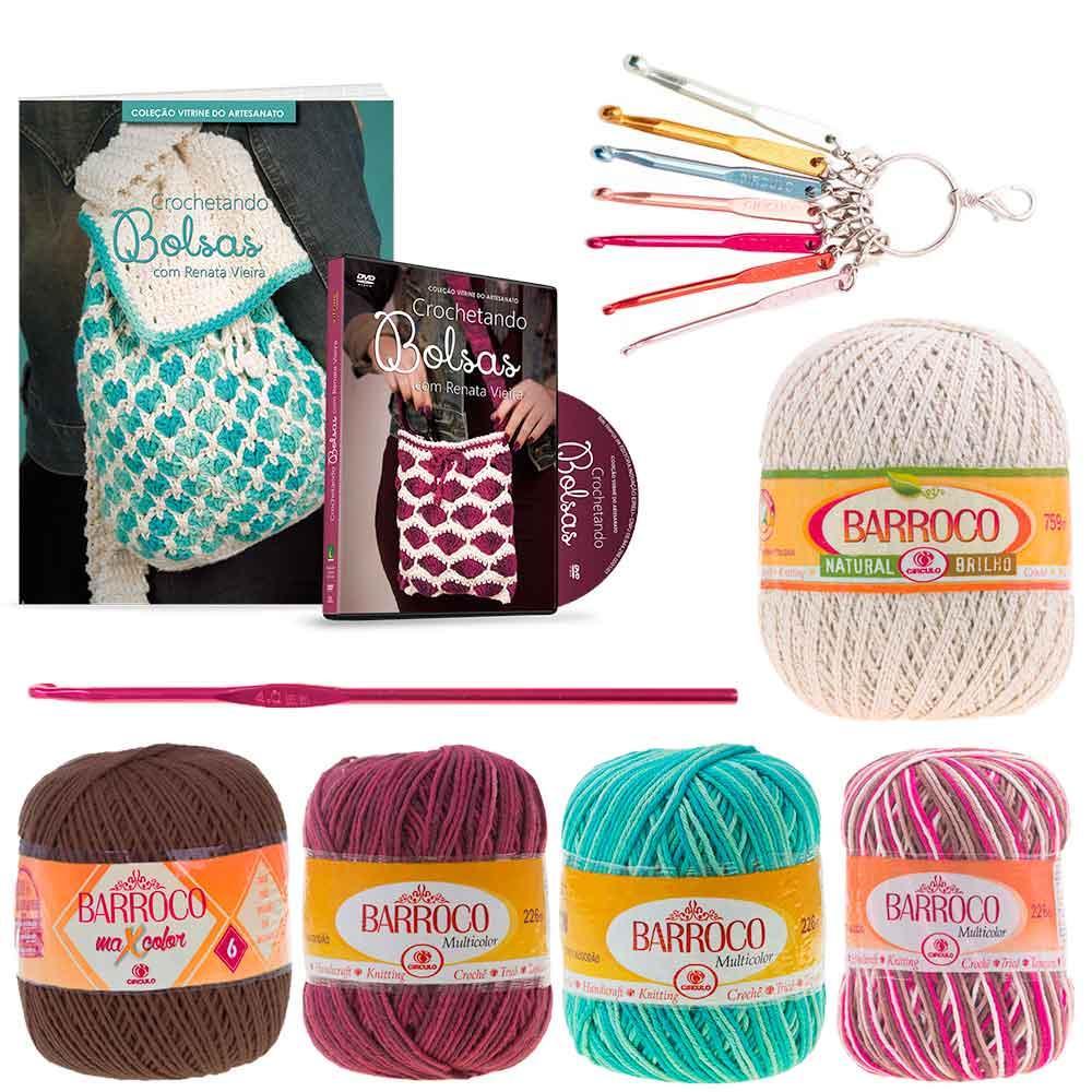 Kit Crochetando Bolsas com Renata Vieira Vitrine do Artesanato ... adc5139068