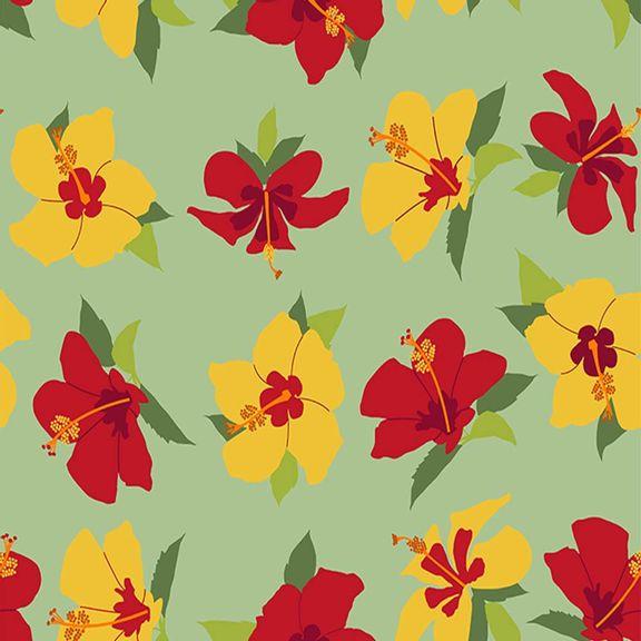 010865_1_Tecido-Arte-Floral-Azaleia-Fundo-Verde